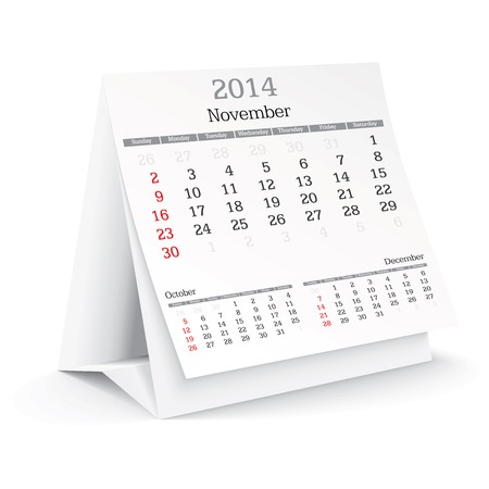 november 2014 - calendar - vector illustration Vector