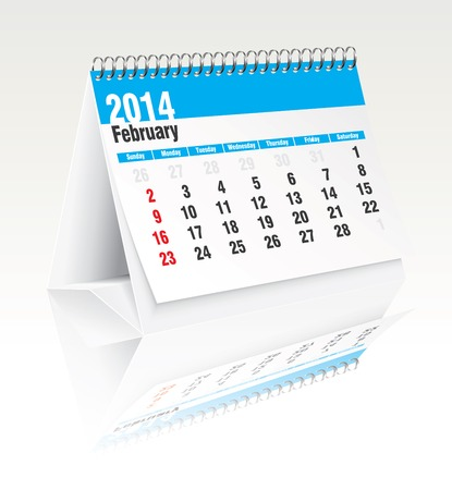 2014 desk calendar - vector illustration Stock Vector - 24199232