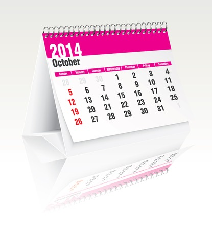 2014 desk calendar - vector illustration Stock Vector - 24188108