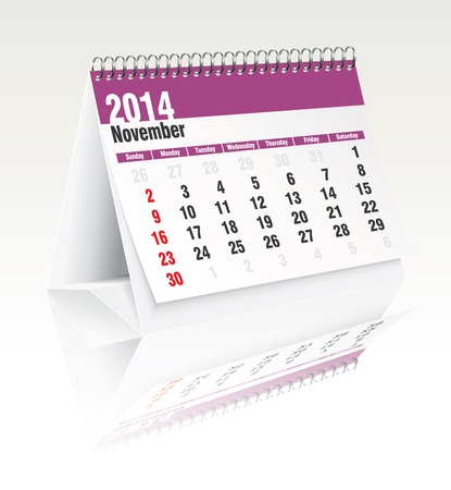 2014 desk calendar - vector illustration Stock Vector - 24188109
