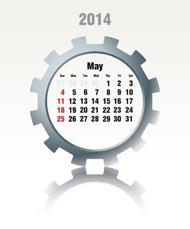 May 2014 - calendar - vector illustration Vector
