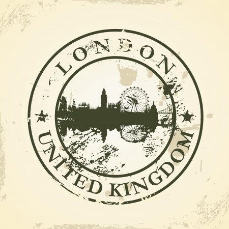 Grunge rubber stamp with London, United Kingdom - vector illustration Vector