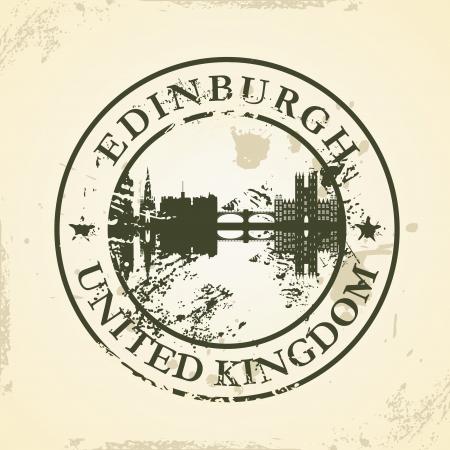 edinburgh: Grunge Stempel mit Edinburgh, Vereinigtes K�nigreich - Vektor-Illustration Illustration
