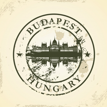 Grunge rubber stamp with Budapest, Hungary - vector illustration Vector