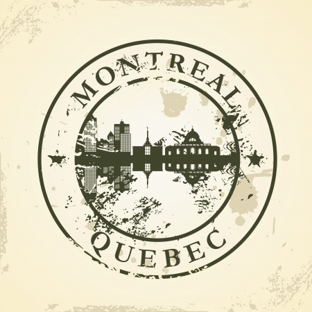 Grunge rubber stamp with Montreal, Quebec - vector illustration Vector