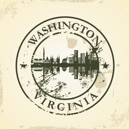 Grunge rubber stamp with Washington, Virginia - vector illustration Vector