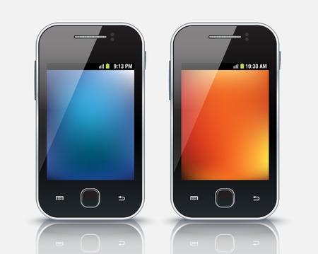 Mobile phones, eps 10 - vector illustration Vector