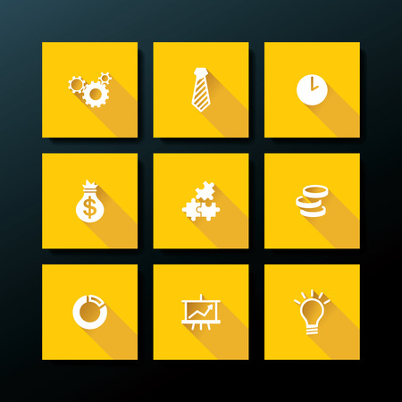 Flat business icon set - vector illustration Vector