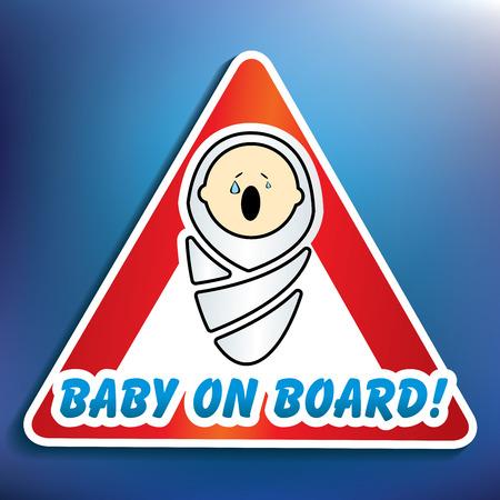 Baby on board sticker - vector illustration Vector