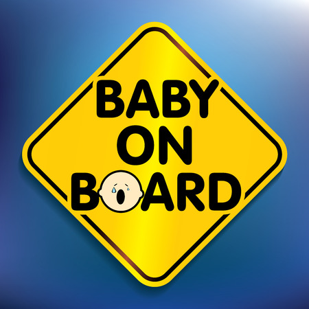 Baby on board sticker - vector illustration Vector
