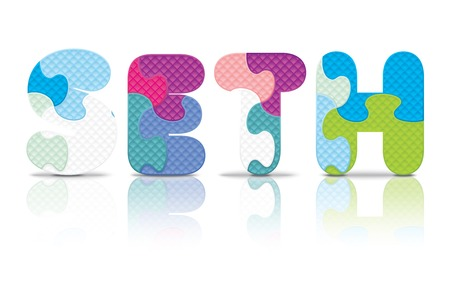 SETH written with alphabet puzzle - vector illustration Vector