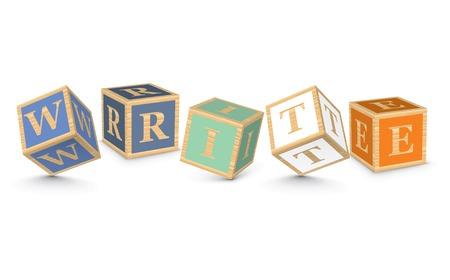 WRITE written with alphabet blocks - vector illustration Vector