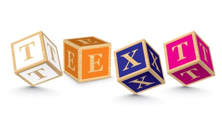 TEXT written with alphabet blocks - vector illustration Vector