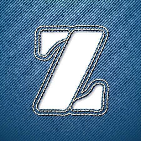 denim jeans: Denim jeans letra Z - ilustraci�n vectorial Vectores