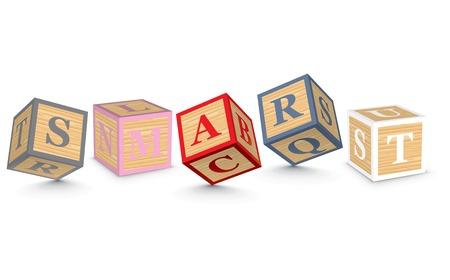 SMART written with alphabet blocks - vector illustration Vector