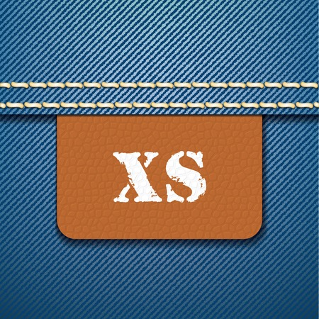 xs: XS size clothing label - vector illustration