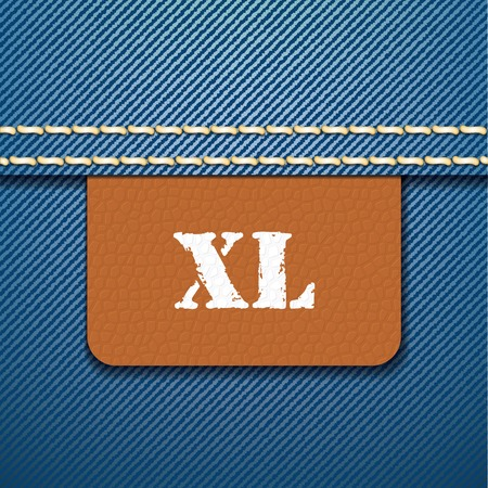 xl: XL size clothing label - vector illustration Illustration