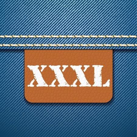 xxxl: XXXL size clothing label - vector illustration