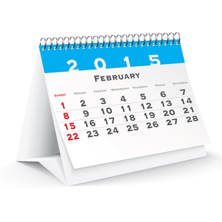 February 2015 desk calendar - vector illustration Vector