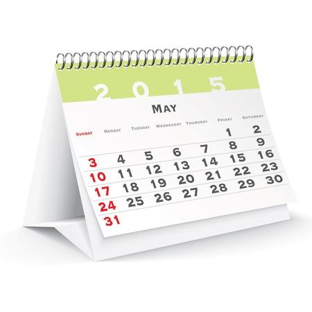 May 2015 desk calendar - vector illustration Vector