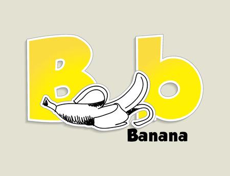 Fruits and vegetables alphabet - letter B - vector eps 10 illustration Vector