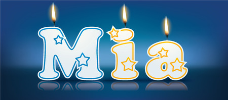 MIA written with burning candles - vector illustration
