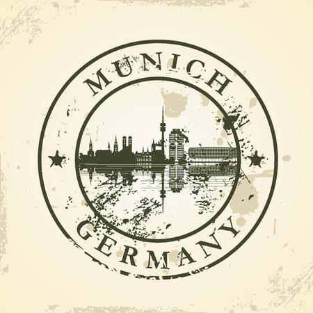 m�nchen: Grunge rubberen stempel met München, Duitsland - vector illustratie