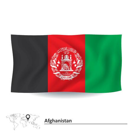 afghan: Flag of Afghanistan - vector illustration