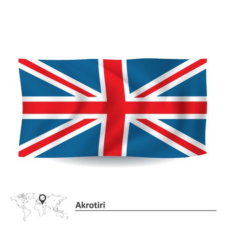 Flag of Akrotiri - vector illustration Vector