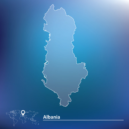 albania: Map of Albania - vector illustration