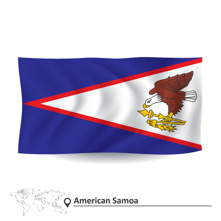samoa: Flag of American Samoa - vector illustration