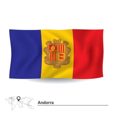 Flag of Andorra - vector illustration Vector