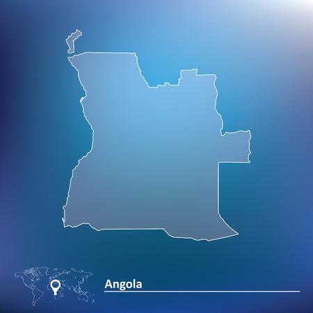 map of angola: Map of Angola - vector illustration