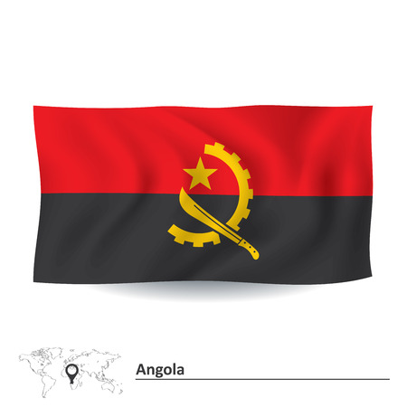 foreign nation: Flag of Angola - vector illustration