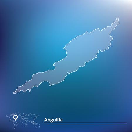 anguilla: Map of Anguilla - vector illustration