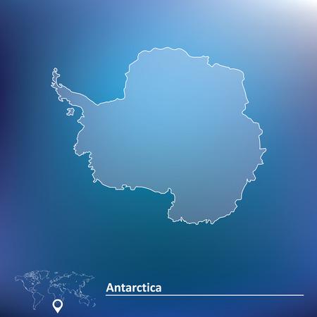 antartide: Mappa di Antartide - illustrazione vettoriale Vettoriali
