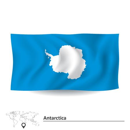 antartide: Flag of Antarctica - illustrazione vettoriale Vettoriali