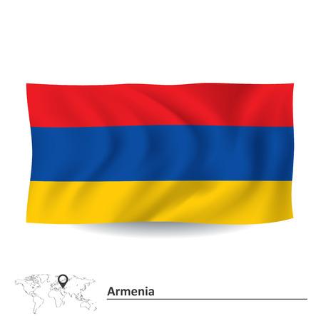 armenia: Flag of Armenia - vector illustration