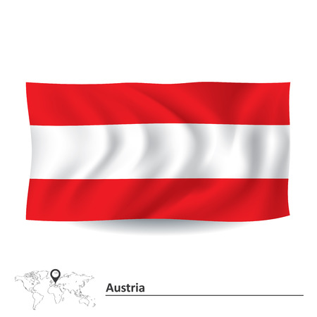 Flag of Austria - vector illustration