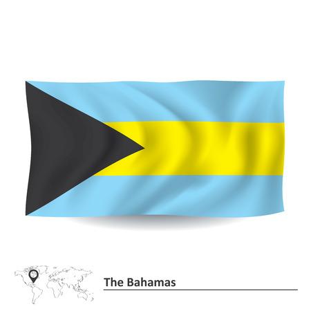 bahamas: Flag of Bahamas - vector illustration Illustration
