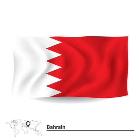 bahrain: Flag of Bahrain - vector illustration Illustration