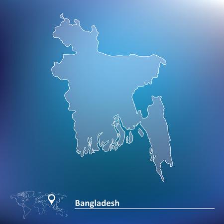 Map of Bangladesh - vector illustration Vector