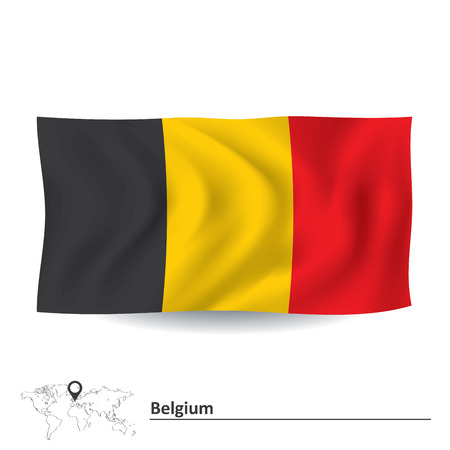 Flag of Belgium - vector illustration Vector