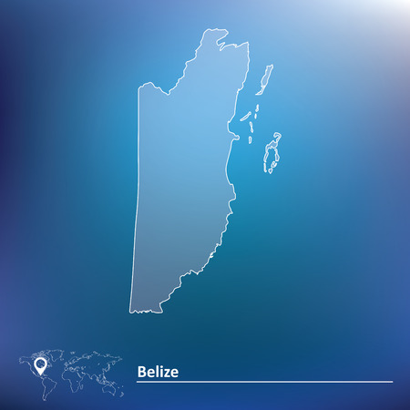 foreign nation: Map of Belize - vector illustration