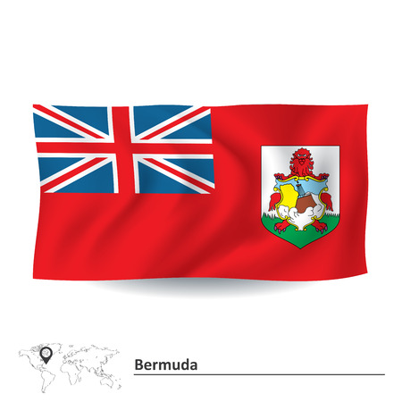 bermuda: Flag of Bermuda - vector illustration