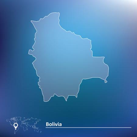 mapa de bolivia: Mapa de Bolivia - ilustraci�n vectorial