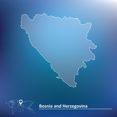 herzegovina: Map of Bosnia and Herzegovina - vector illustration Illustration