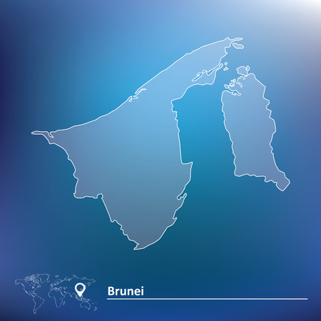 map of brunei: Map of Brunei - vector illustration Illustration