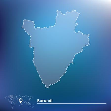 Map of Burundi - vector illustration Vector