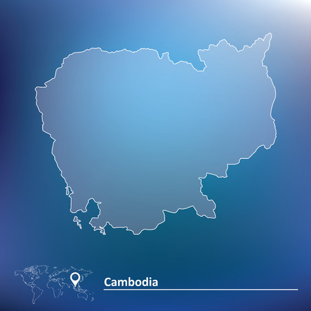 Map of Cambodia - vector illustration Vector